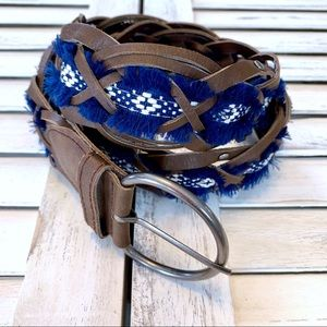 Accessories - Weaved Aztec Bohemian Print Woven Belt